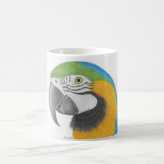 blue and gold macaw mug