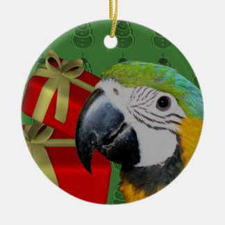 Blue And Gold Macaw Parrot Christmas Ornament