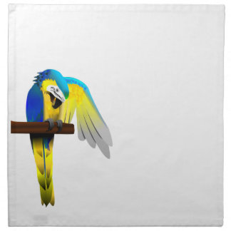 Blue and Gold Macaw Parrot Print Napkin