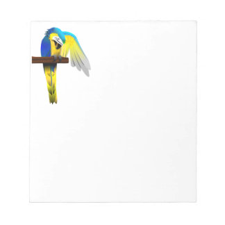 Blue and Gold Macaw Parrot Print Notepads