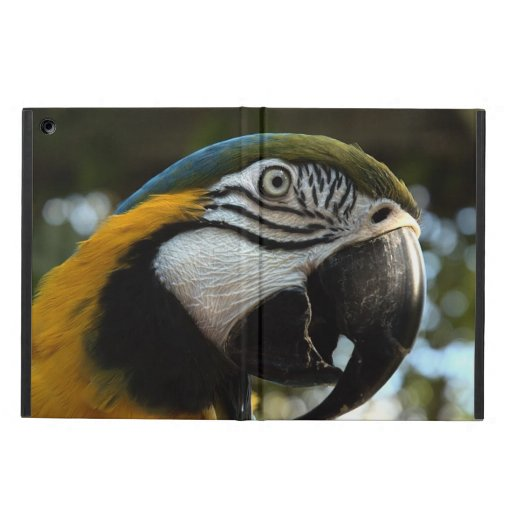Blue and Gold Macaw Powis Cover For iPad Air