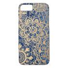 Blue and Gold Mandala Pattern Case
