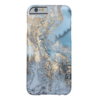 Blue and Gold Marble Phone Case