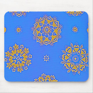 BLUE AND GOLD MOUSEPAD