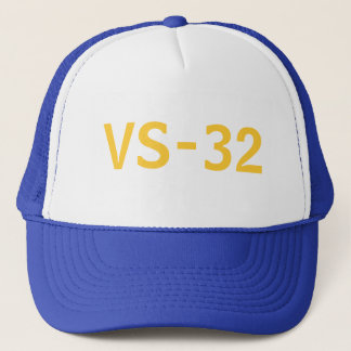 Blue and Gold Old School Trucker Hat