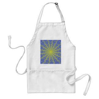Blue and gold spiral fractal. standard apron