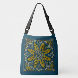 Blue and Gold Star Point Deco Crossbody Bag