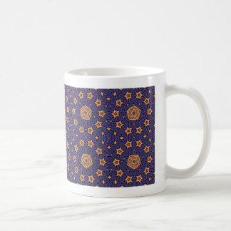 Blue and gold starry mug