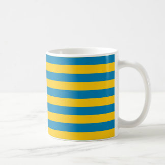 Blue and Gold Stripes Mug