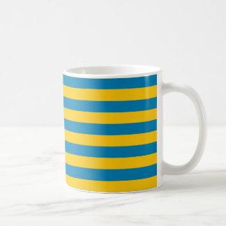 Blue and Gold Stripes Mug