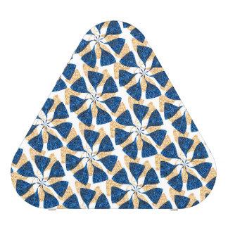 Blue and Gold Winter Snowflake Pattern Pinwheel