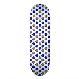 Blue and Gray Basketball Pattern 21.6 Cm Old School Skateboard Deck