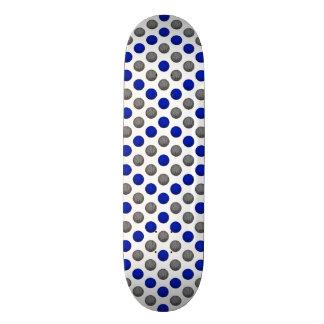 Blue and Gray Basketball Pattern 21.6 Cm Old School Skateboard Deck