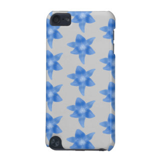 Blue and gray floral pattern. iPod touch (5th generation) cover