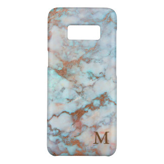 Blue And Gray Marble Stone Brown Glitter Case-Mate Samsung Galaxy S8 Case