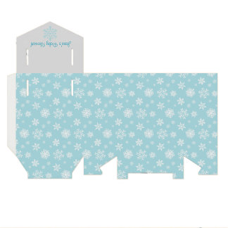Blue and Gray Snowflake Favor Box Wedding Favour Boxes