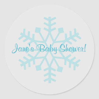 Blue and Gray Snowflake Sticker