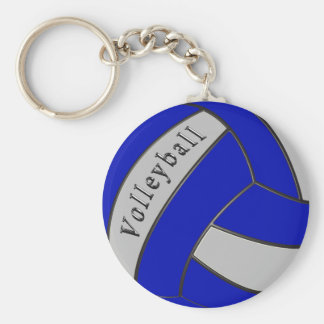 Blue and Gray Volleyball Keychains Favors
