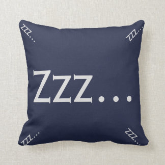 Blue and Gray Zzz... Throw Pillow
