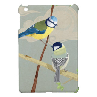 Blue and Great tit Cover For The iPad Mini