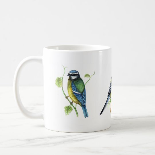 Blue and great Tits Mug