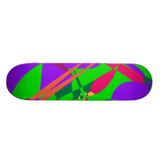 Blue and Green Abstract Composition Skate Deck
