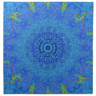 Blue and green abstract design napkins