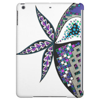 Blue and Green Abstract Design on iPad Air Case
