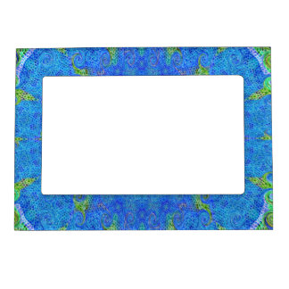 Blue and green abstract design picture frame