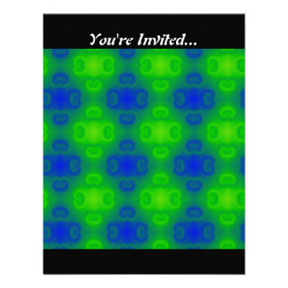 Blue and Green Abstract Personalized Invites