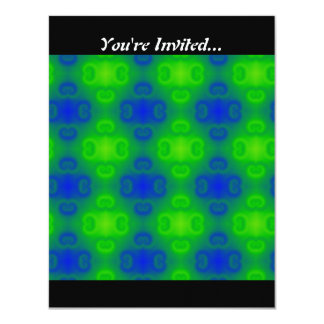 Blue and Green Abstract 11 Cm X 14 Cm Invitation Card