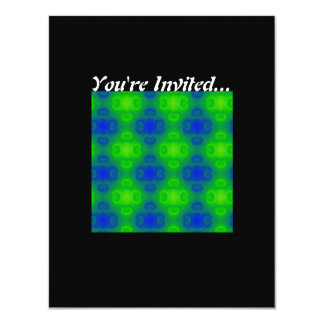 Blue and Green Abstract 4.25x5.5 Paper Invitation Card