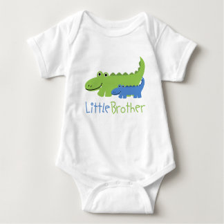 Blue and Green Alligator Little Brother Baby Bodysuit