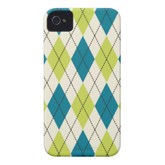 Blue And Green Argyle Case-Mate iPhone 4 Case