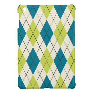 Blue And Green Argyle Cover For The iPad Mini