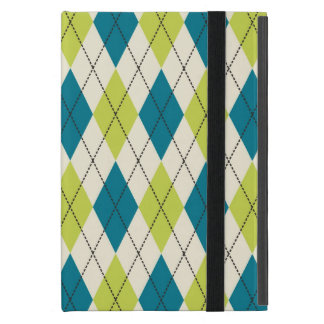 Blue And Green Argyle Covers For iPad Mini