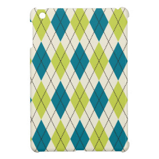 Blue And Green Argyle iPad Mini Case