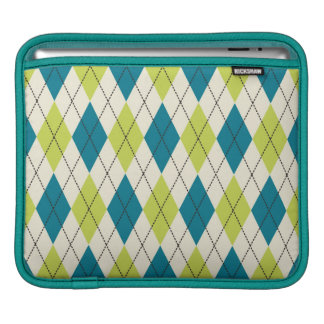 Blue And Green Argyle iPad Sleeves