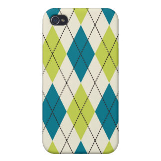Blue And Green Argyle iPhone 4 Cover