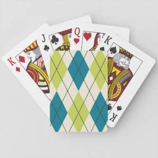 Blue And Green Argyle Playing Cards