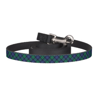 Blue and Green Armstrong Clan Scottish Plaid Dog Leash