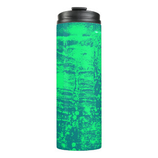 Blue and Green Artistic Hot or Cold Drink Carrier Thermal Tumbler
