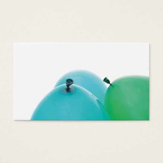blue and green balloons business card