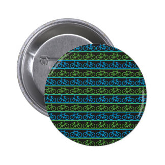Blue and green Bike Bicycle pattern 6 Cm Round Badge