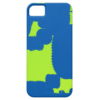 blue and green blotch abstract art iPhone 5 covers