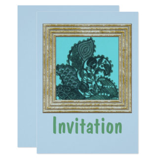 Blue And Green Bohemian Paisley Card