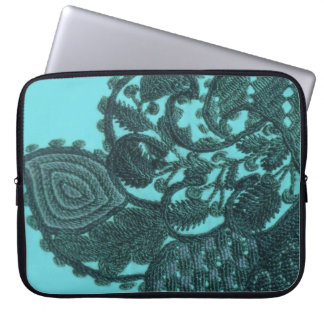 Blue And Green Bohemian Paisley Laptop Sleeve
