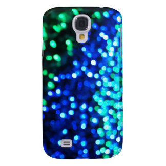 Blue and Green Bokeh Lights Galaxy S4 Case