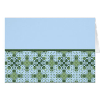 blue and green border greeting cards