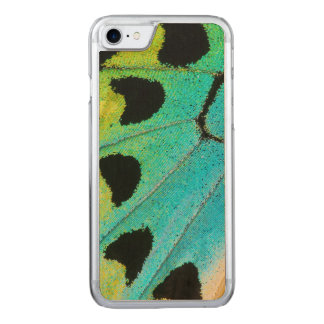blue and green butterfly wing carved iPhone 7 case